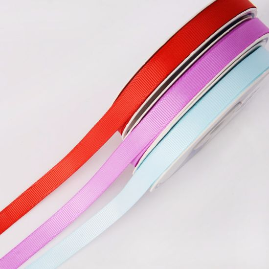 "3/8"" Polyester Grosgrain Ribbon pictures & photos"