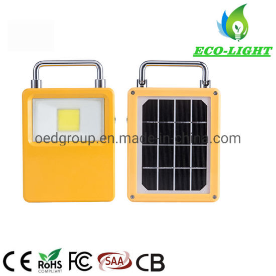 Outdoor IP65 50W Rechargeable LED Portable Solar COB Flood Light