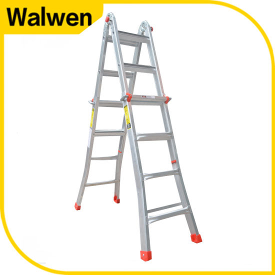 China New Item Aluminum Folding Step Ladder Multi Purpose Ladder