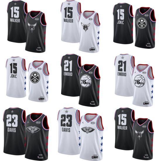 wholesale dealer f7a61 6e126 [Hot Item] 2019 All-Star Kemba Walker Nikola Jokic Embiid Davis Basketball  Jerseys