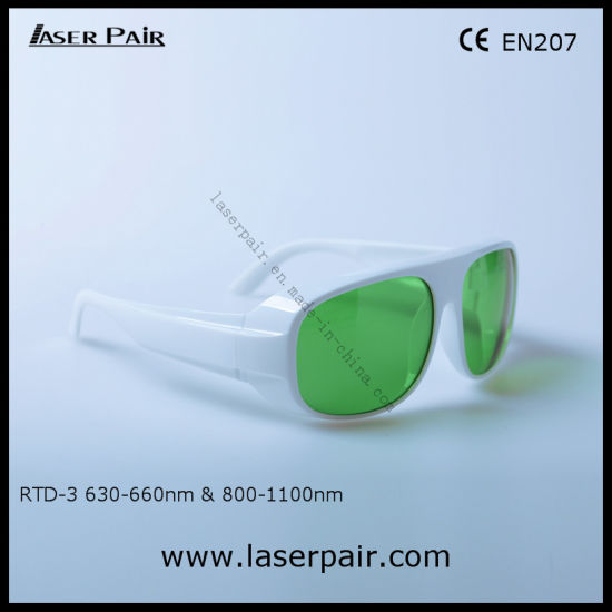Typical for 635nm & 808nm & 980nmlaser Safety Glasses for Red Laser, Diodes Lasers with White Frame 52 pictures & photos