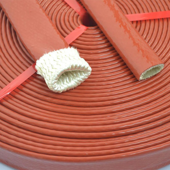 High Temperature Silicone Coated Fiberglass Fire Sleeve / Fire Sleeving