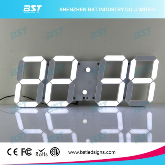 China Creative Indoor Digital LED Wall Clock for TimeDate