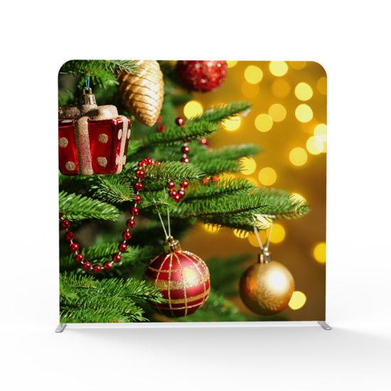 Double Printing Christmas Tension Fabric Tube Display Backdrop