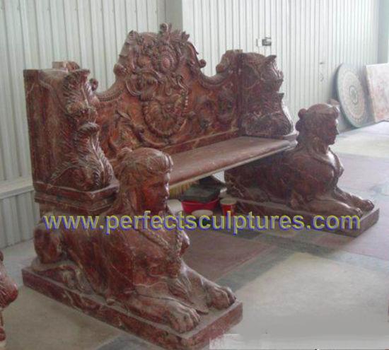 Stone Marble Antique Garden Chair for Garden Ornament (QTC067)