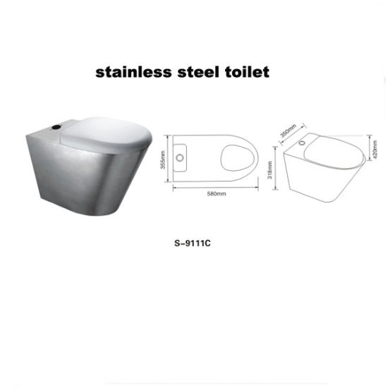 Stainless Steel Toilet (9111C) pictures & photos
