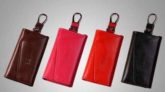 PU PVC Really Leather Key Wallet pictures & photos