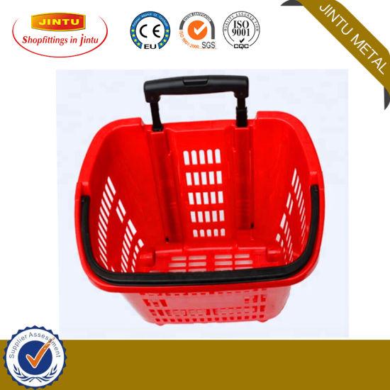 Plastic Retail Store Basket Supermarket Basket Shopping Basket 35L