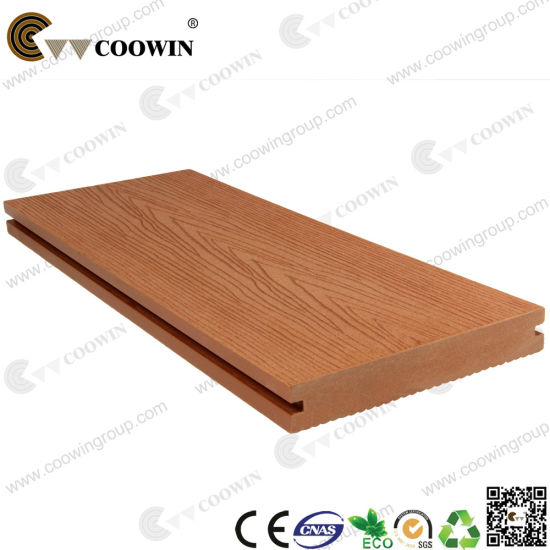 Patio Outdoor Hollow Groove Wood Plastic Composite Decking WPC (TW K03)