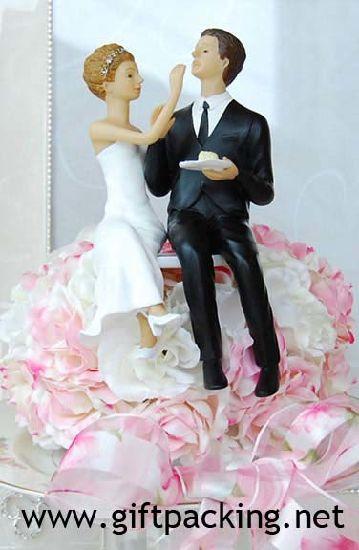 Couple Eating Cake Resin Figurine