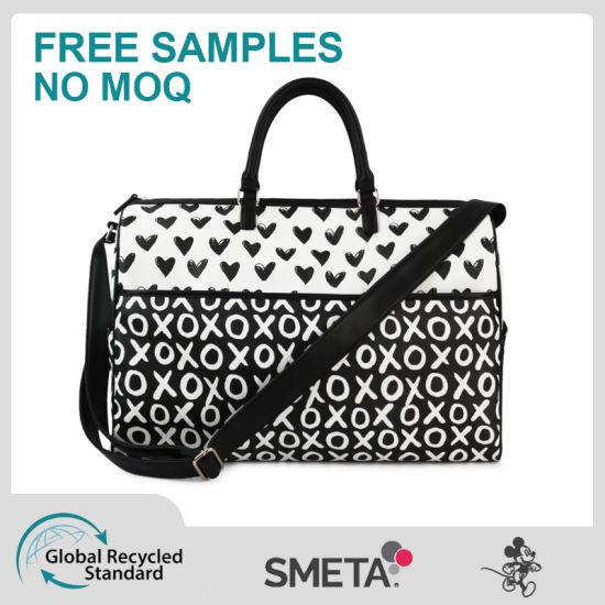 Black and White Contrast Travel Bag Ladies Handbag High Quality
