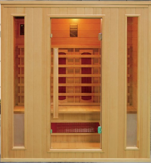Four Person Dry Sauna Room Carbon Heaters Far Infrared Sauna Cabin