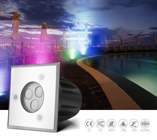 Sell Like Hot Cakes High Power DC24V External Control Square LED Ground Pool Lighting