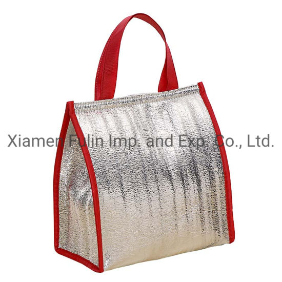Lunch Insulated Foldable Fashion Wholesale Custom PP Non-Woven Cooler Bags