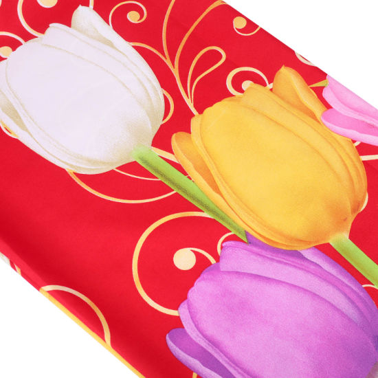 China Manufacturer Bright Tulip Pattern Soft Bedsets Polyester Fabric