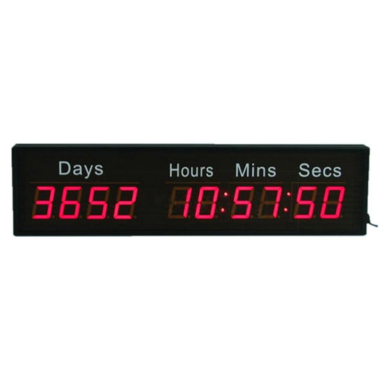 """2.3"""" 10 Digit Wall Mounted Red Digital LED Countdown Timer"""