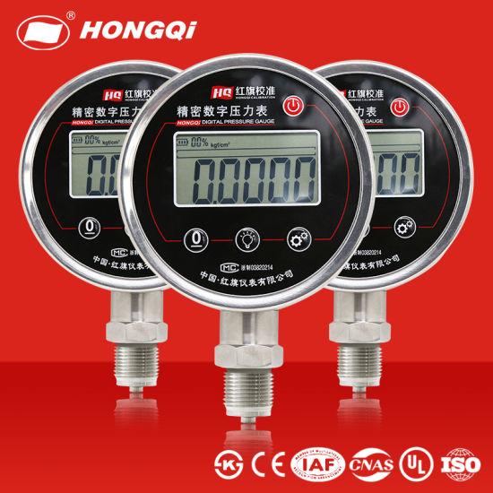 Hongqi Hc-100 Factory Price OEM 0-100MPa Air Oil Water Battery Digital Pressure Gauge /Gas Flow Meter/Air Pressure Gauge