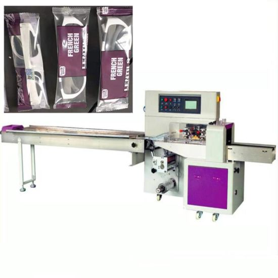 Automatic Horizontal Flow Wrapper/Wrapping Pillow Bakery/Bread Packing Packaging Machine Made in China