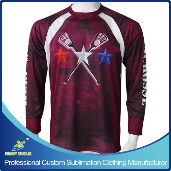 Custom Sublimation Boy's Lacrosse Shooter Sports T Shirts