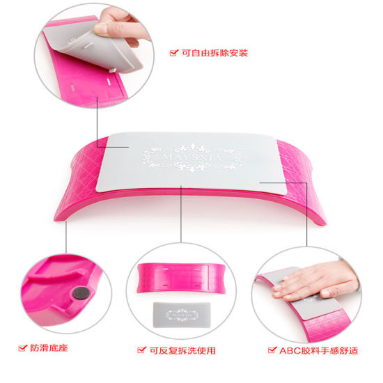 PRO Plastic & Silicone Nail Art Cushion Pillow Nail Arm Rest pictures & photos