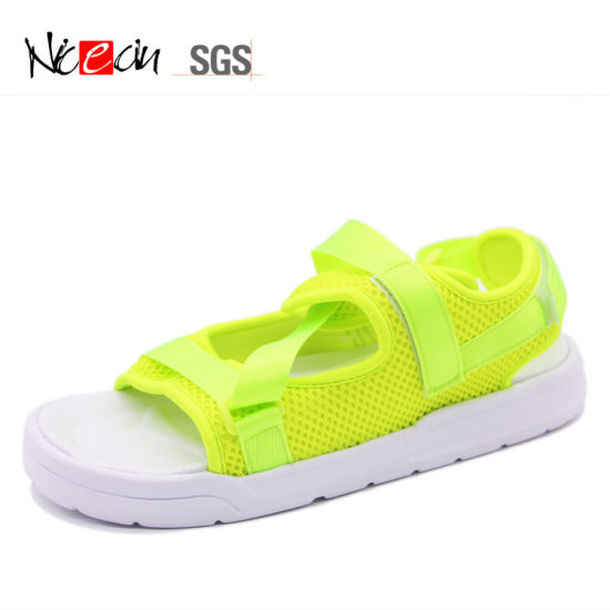 New Stylish Neon Green Casual Sandals for Men
