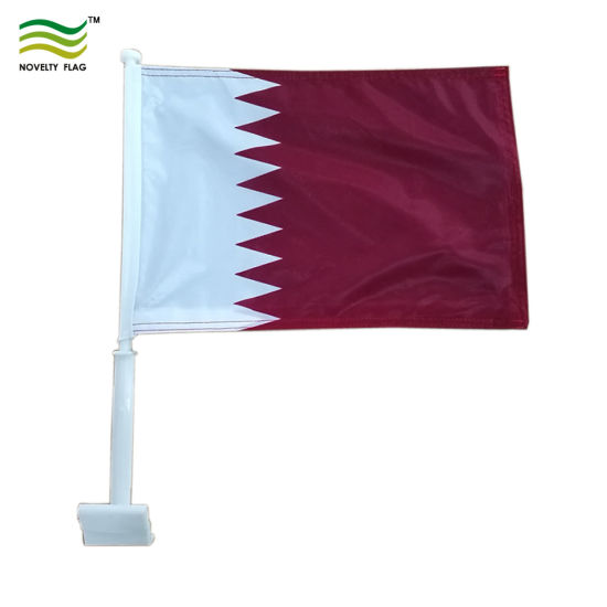 Mini Flying Banner Qatar Car Window Flag pictures & photos