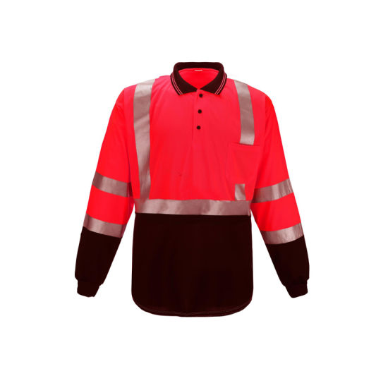 Wholesale Safety Long Sleeve Reflecting High Visibility T-Shirt