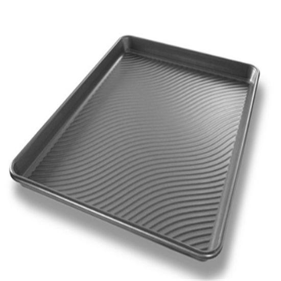 Non-Stick Round Corner Corrugated Aluminum Baking Sheet Pan
