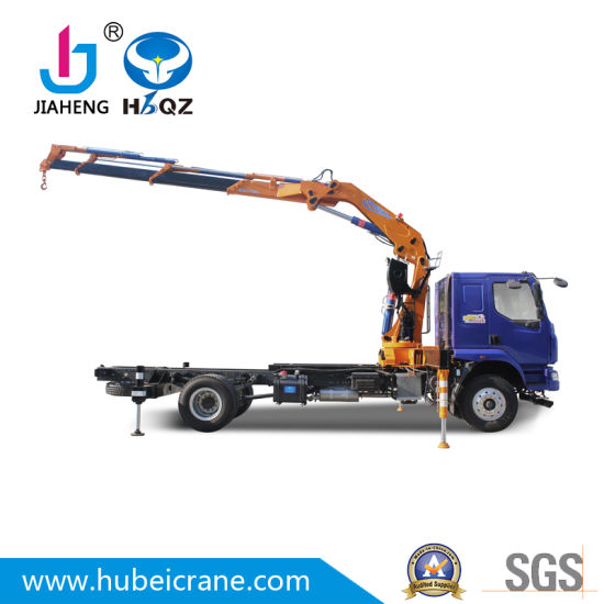 HBQZ Factory price SQ160ZB4 Hydraulic Lifting 8 Ton Knuckle boom Mounted truck Crane for dump truck