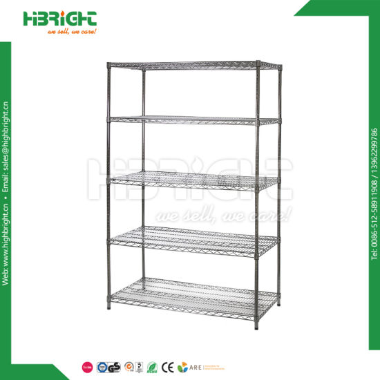 Chromed Wire Mesh Storage Shelving pictures & photos