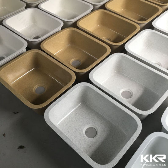 China Artificial Stone Resin Undermount Double Kitchen Sink - China ...