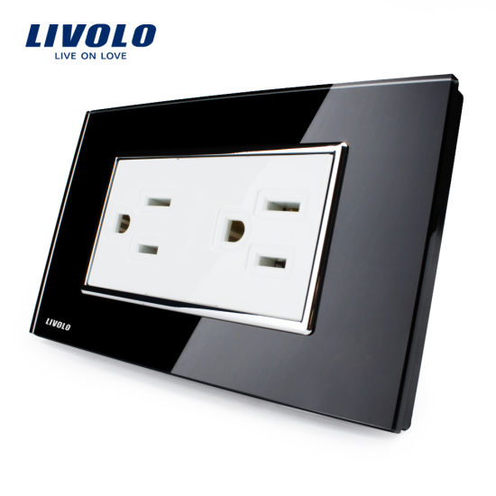 China Livolo Us Standard New Type Wall Outlet Power Socket Vl-C3c2us ...
