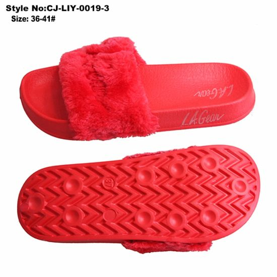 Fashion Winter Slipper, Comfortable Fur Slipper for Ladies pictures & photos