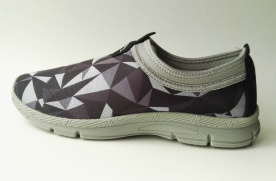 Printed and Knitted Upper with Soft Lining Fashion Running Shoes
