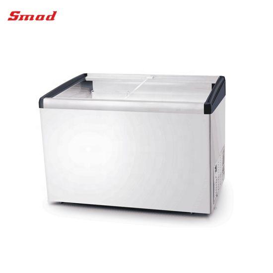 200-500L Glass Door Ice Cream Display Chest Freezer with Lock