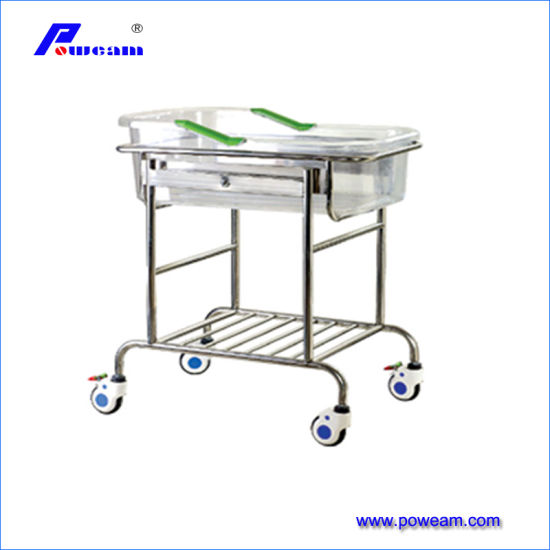 Stainless Steel Adjustable Medical Baby Crib