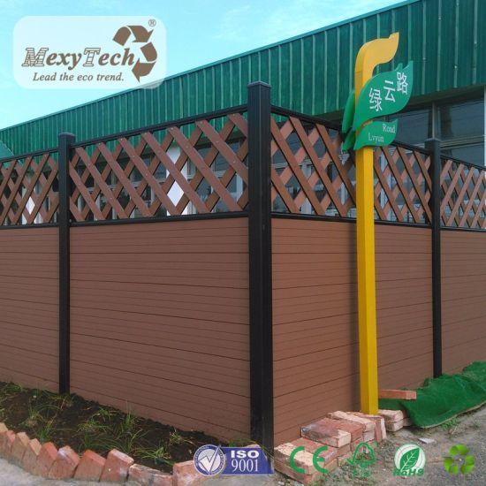 Euro Style Composite Wood Fencing Lattice Design Garden Fence For Sale