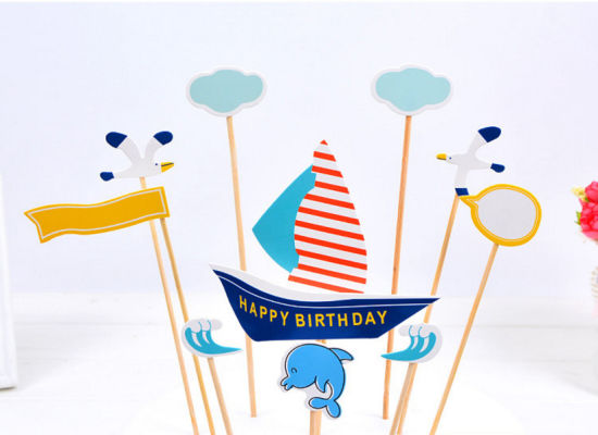 China Custom Design Happy Birthday Cake Decorative Letter Banner