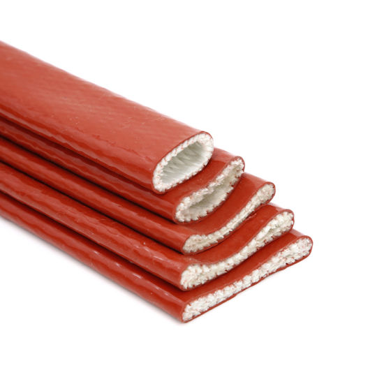 China High Temperature Silicone Coated Fiberglass Braided Fire Sleeves/Sleeving
