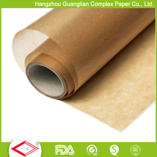 Custom Unbleached Brown Double Sides Siliconized Cooking Baking Paper