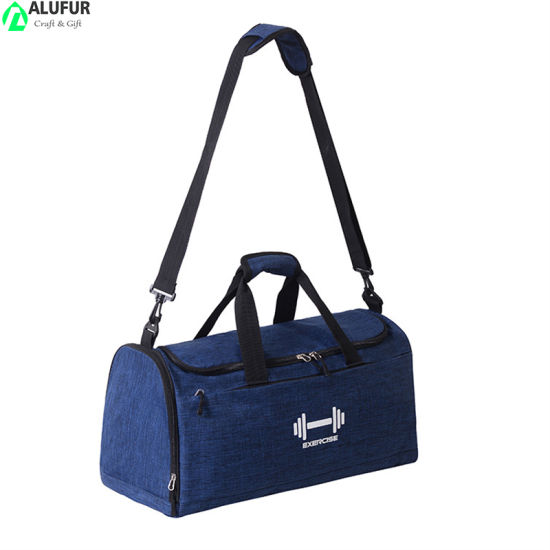 Workout Sport Travel Barrel Bags Transit Duffle Bag with Wet Pocket Shoes Compartment