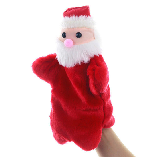 Soft Stuffed Plush Baby Toy Christmas Hand Puppet Cartoon Santa Claus