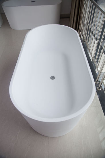 Small Size 1300mm Mattu0026Glossy Round Acrylic Bathtub