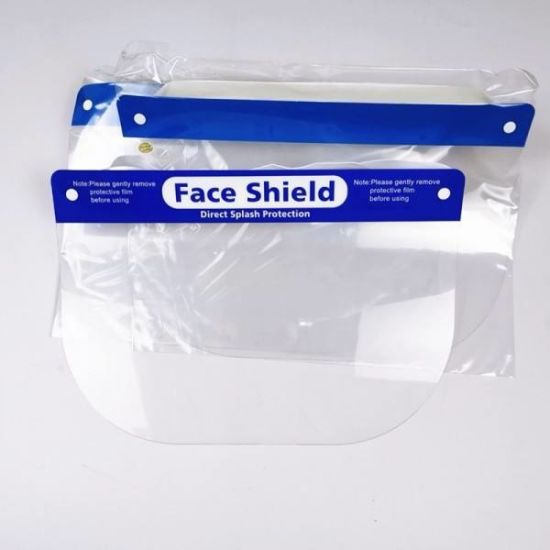 Anti-Splash and Anti-Fog Face Shield with High Light Transmission Pet Material