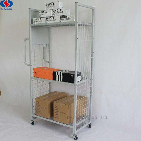 Supermarket 4 Tiers Pulley Commodity Tools Metal Display Stand pictures & photos