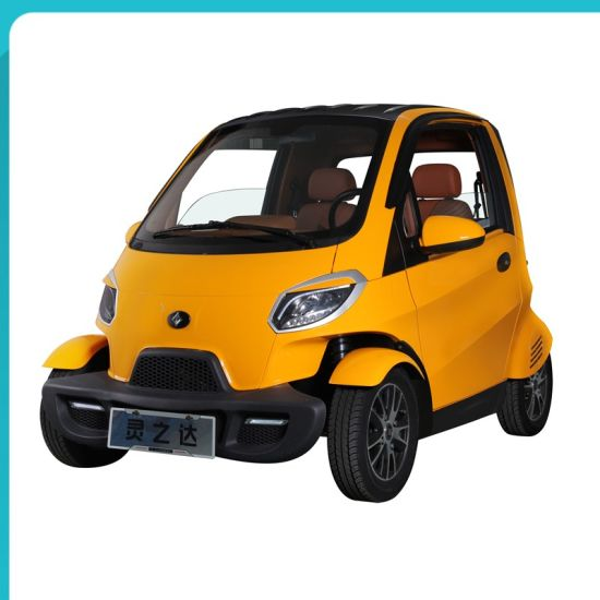 China Smart Control 2 Seater Mini 4 Wheels Auto Electric Car For