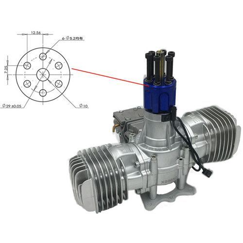 Dle 130 RC Model Gasoline Engine 130cc Displacement Dual Cylinder Two Strokes Air Cooling Hand Start pictures & photos
