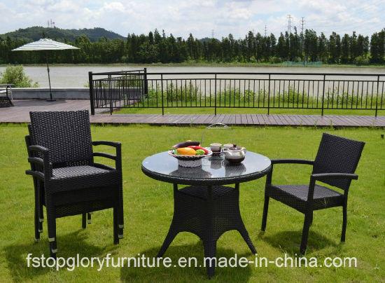 China New Design Rattan Tea Table Chair Set Outdoor Garden