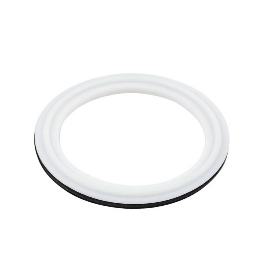 Buna N White Color Envelope Fitted Triclamp Screened PTFE Gaskets