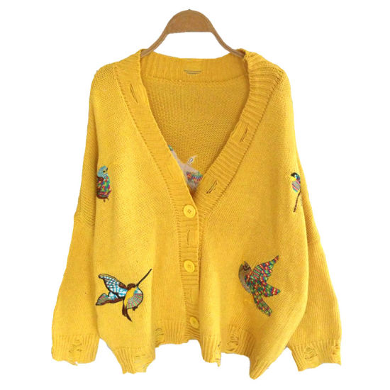 China Woolen Sweater Woman Buttfly Designs Cardigan for Ladies ... 187e47266